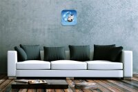 Wall Clock Vintage Gothic Crescent Cat wing Dream World...