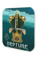 Wall Clock Nostalgic Space Decoration Neptune Acrylglass