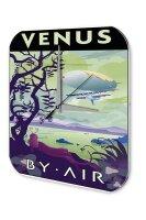 Wall Clock Space Star Moon Decoration Venus Acrylglass