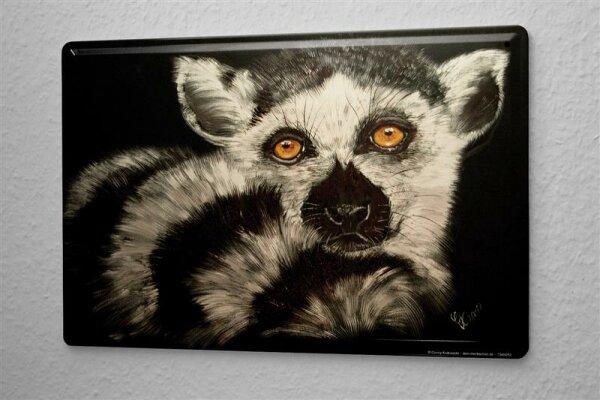 Blechschild Küche Krakowski Lemur
