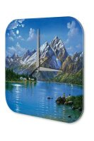 Wall Clock Holiday Travel Agency Mountain lake mountains...