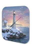 Retro Wall Clock Lighthouse snow rock Vintage Decoration...