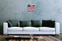 Wall Clock Holiday Travel Agency American Flag Acrylglass