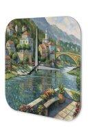 Wall Clock Holiday Travel Agency River bridge landscape Acrylglass