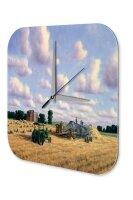 Retro Wall Clock Tractor Factory Cereal crop farmers...