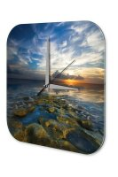 Wall Clock Feng Shui Picture the sea Decorative Acrylglass