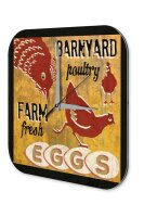 Wall Clock Chicken egg farm Printed Acryl Acrylglas Vintage
