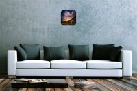 Wall Clock Feng Shui Picture Desert stones night...