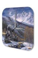Wall Clock Model Railroad Snow Mountain Railway Nostalgia...