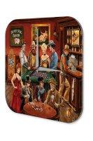Wall Clock USA Native Saloon Poker Roulette Printed Acryl...