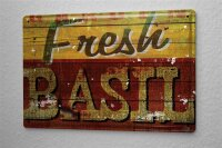 Blechschild M. A. Allen Retro US Deko Fresh Basil Basilikum Werbung 20x30 cm