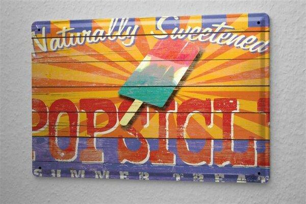 Blechschild M. A. Allen Retro US Deko Eis am Stiehl Werbung 20x30 cm