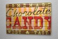 Blechschild M. A. Allen Retro US Deko Chocolate Candy Schockoladen Werbung 20x30 cm