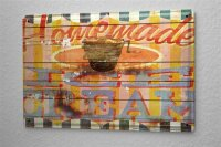 Blechschild M. A. Allen Retro US Deko Ice Cream Hausgemacht Eis Werbung 20x30 cm
