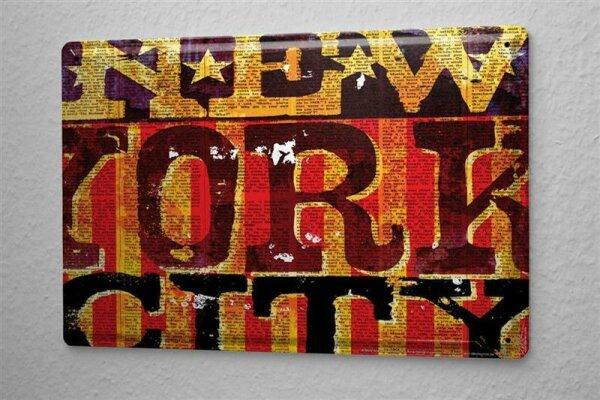M.A. Allen Retro Tin Sign Poster U.S. Deco New York City advertising