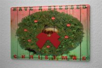 M.A. Allen Retro Tin Sign Poster U.S. Blessed Christmas decoration Christmas greetings card