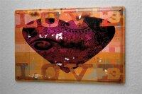 Blechschild M. A. Allen Retro US Deko Love Liebe Herz Romantik 20x30 cm
