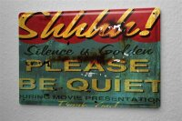 Blechschild M. A. Allen Retro US Deko Bitte Um Ruhe Kino Plakat Hollywood Tafel 20x30 cm