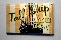 M.A. Allen Retro Tin Sign Poster U.S. Deco Tall Ship Race...