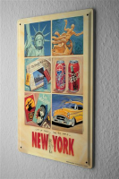 Tin Sign Retro Art Metropole G. Huber New York City