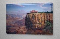 Tin Sign Holiday Travel Agency G. Huber Grand Canyon Pickup
