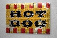 Blechschild M. A. Allen Retro US Deko Hotdog Restaurant Nostalgie Werbung 20x30 cm