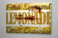 M.A. Allen Retro tin sign metal plate U.S. Deco lemonade...