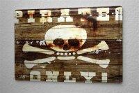M.A. Allen Retro tin sign metal plate U.S. Deco Buccaneer...