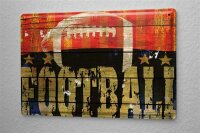 Blechschild M. A. Allen Retro US Deko American Football Sport Nostalgie Werbung 20x30 cm