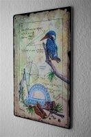 tin sign metal plate Arkadiusz Warminski kingfisher math...