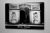 tin sign metal plate Dave Butcher photo France arc de...