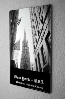 Tin Sign Dave Butcher black poster USA New York Trinity...