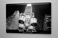 Tin Sign Dave Butcher black poster USA New York Woolworth...