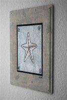 Tin Sign Coastal Marine Starfish