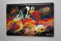 Blechschild Feng Shui Bild Moderne Kunst