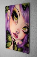 Tin Sign Fantasy Gothic Butterfly eyes