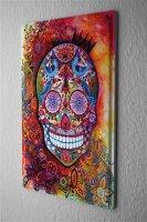 Tin Sign Fun Ravtive colourful skull