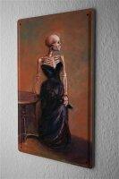 Tin Sign Fun Ravtive Skeleton dress