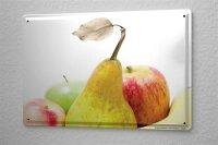 Blechschild Jorgensen Fotografie Foto Bilder Stillleben Birne Apfel Banane Obstkorb 20x30 cm