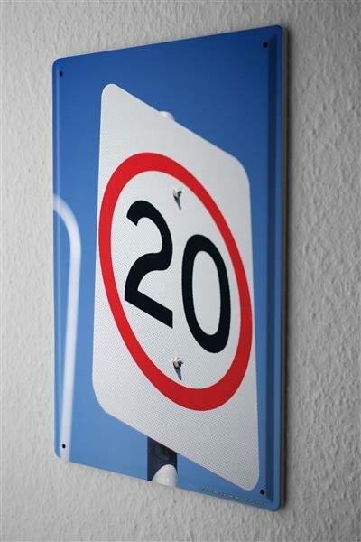Blechschild Jorgensen Fotografie Foto Bilder Warnschild Verkehrsschild Tempolimit 20x30 cm