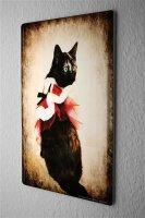 Tin Sign Cat Christmas cat