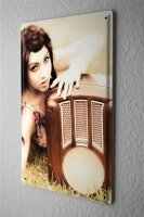 Tin Sign Jorgensen pin up metal blate poster Model old...