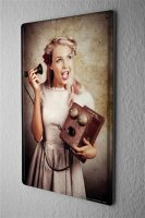 Red Tin Sign Jorgensen pin up metal blate poster Model...