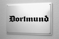 Tin Sign Dortmund City Name poster metal blate plaque...