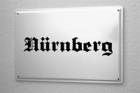 Tin Sign Nuremberg City Name poster metal blate plaque...