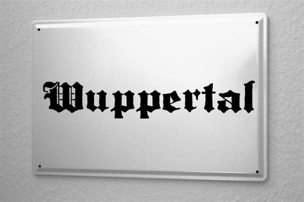 Blechschild Wuppertal Stadtname Stadt Städte Städtename Hauptstadt 20x30