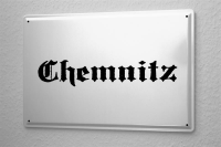 Tin Sign Chemnitz City Name poster metal blate plaque...