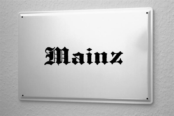 Tin Sign Mainz City Name poster metal blate plaque Name capital cities