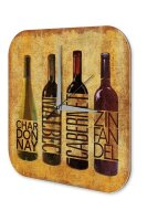 Wall Clock Bar Party Vintage Decoration Wine Plexiglass