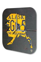 Wall Clock Holiday Travel Agency Alaska Acrylglass